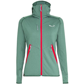 SALEWA Agner Hybrid Polarlite/Durastretch Full-Zip Hoodie Women feldspar green mel